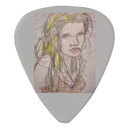 422x422 Girl On Beach Guitar Pick