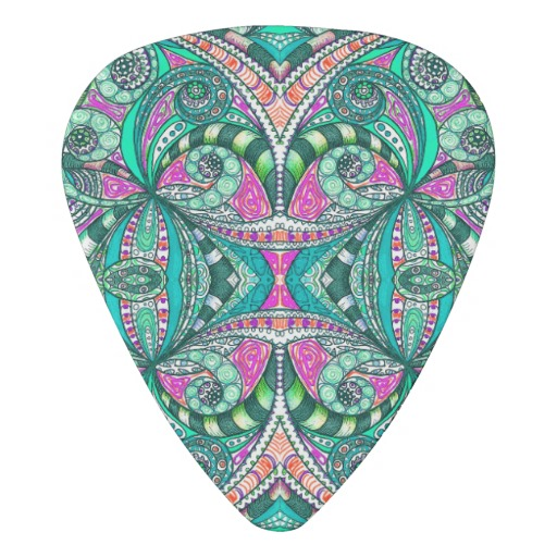 512x512 Guitar Pick Drawing Floral Guitar Picks, Guitars And Doodles