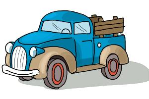 300x200 How To Draw A Pickup Truck