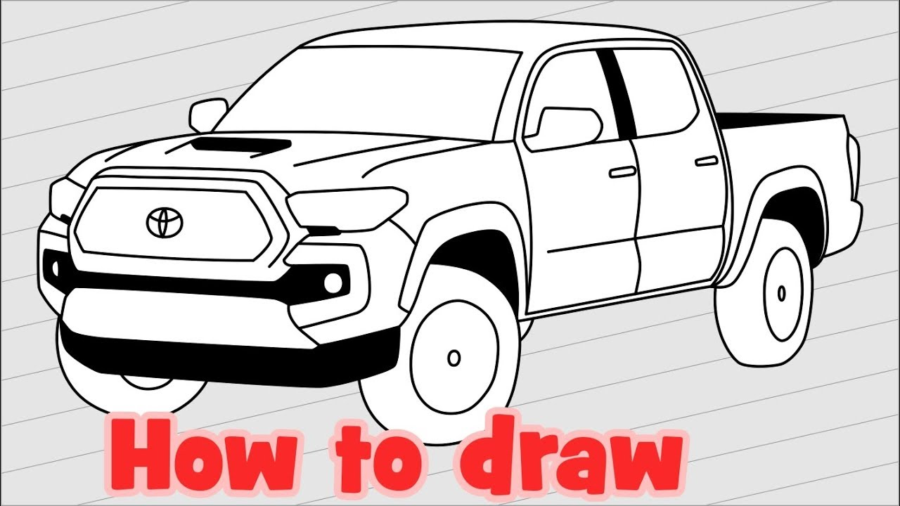 1280x720 How To Draw A Car Toyota Tacoma 2018 Pickup Truck