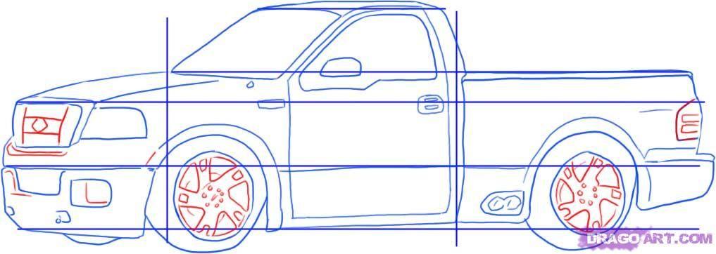 1017x362 How To Draw Trucks. Drawing Tutorials Lightning