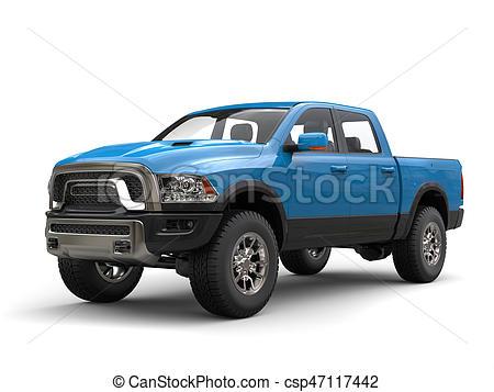 450x357 Sky Blue Modern Pick Up Truck