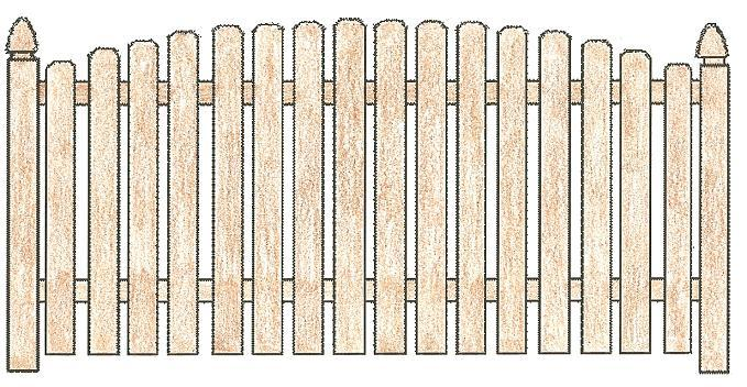 Picket Fence Drawing at GetDrawings.com | Free for personal use ...
