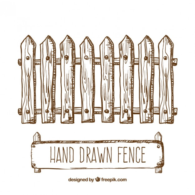 626x626 Hand Drawn Fence Vector Free Download