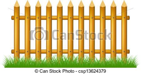 450x236 Wooden Fence Standing In Grass On White Background Vectors