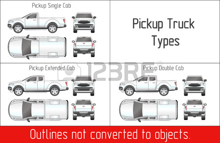 450x293 Car Truck Pickup Drawing Outline Strokes Not Expanded Royalty Free