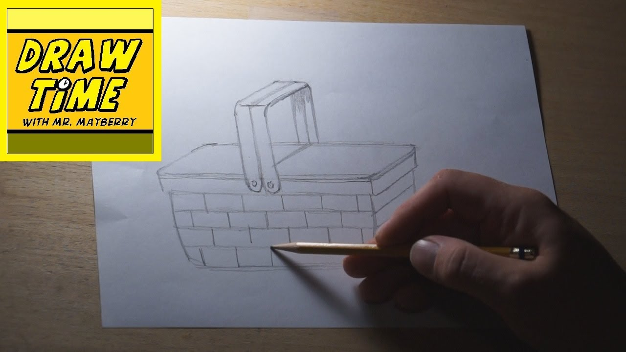 1280x720 How To Draw A Picnic Basket