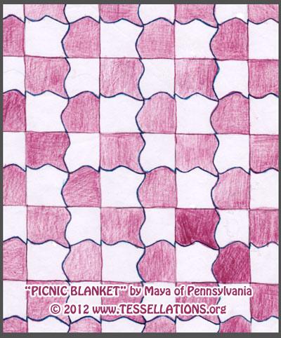400x482 Tessellation Picnic Blanket By Maya Of J. R. Masterson
