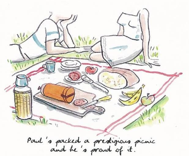 618x512 Life's A Picnic! Drawing By Alice Charbin