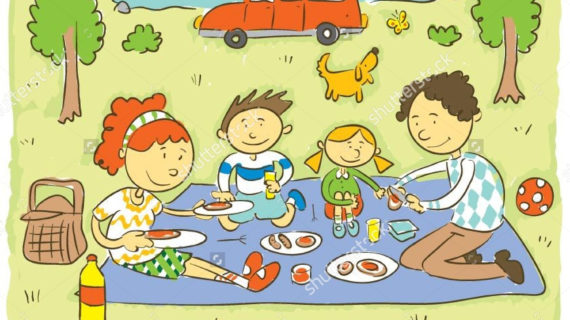 570x320 Picnic Drawing For Kids