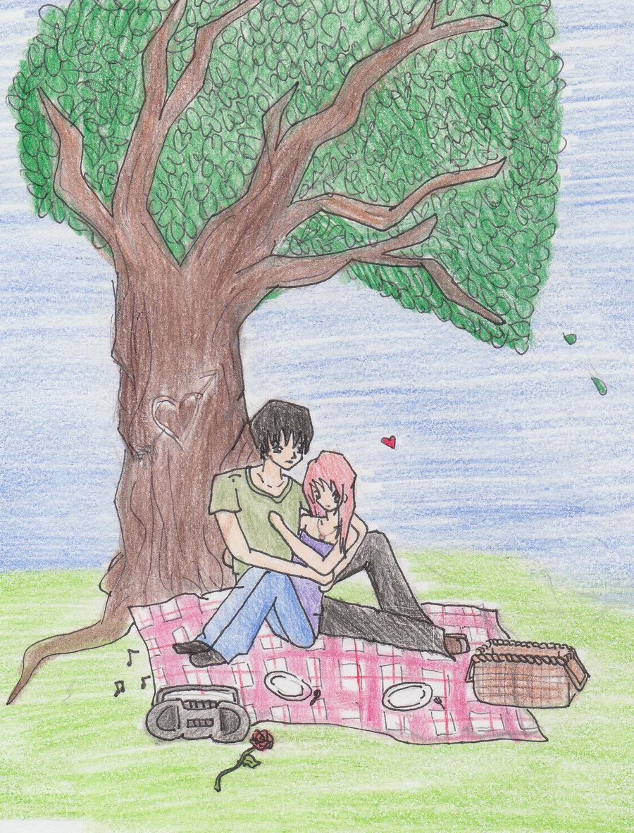 900x1183 Romantic Picnic Scene By Jcrpurple417