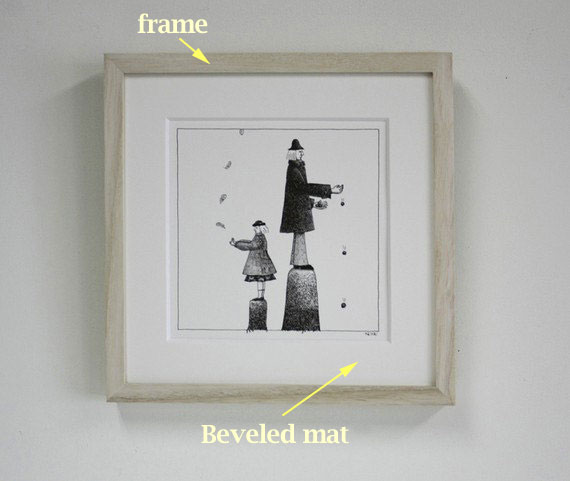 570x481 Bradhallart Blog How To Frame A Pencil Drawing