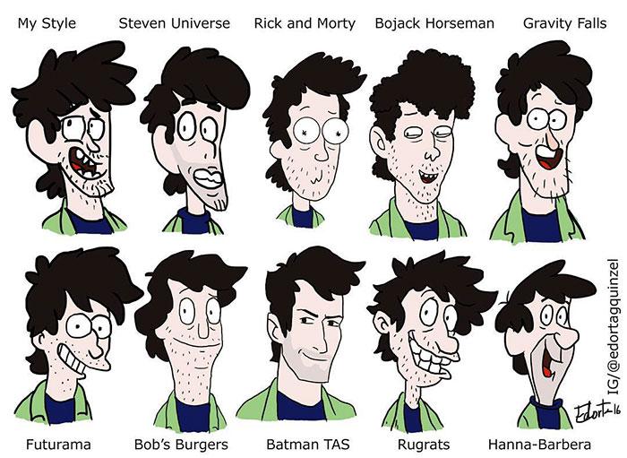 700x511 Illustrators Reimagine Their Art With Famous Cartoon Styles