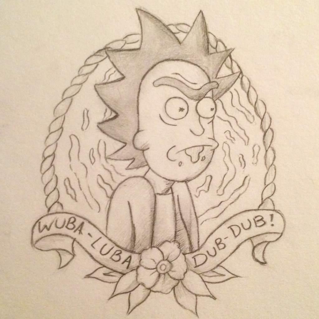 1024x1023 Rick And Morty Drawings Cartoon Amino