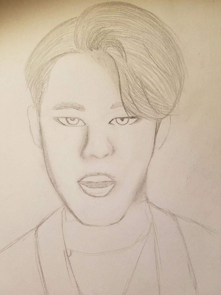 768x1024 Bts) Jimin Drawing! K Pop Amino