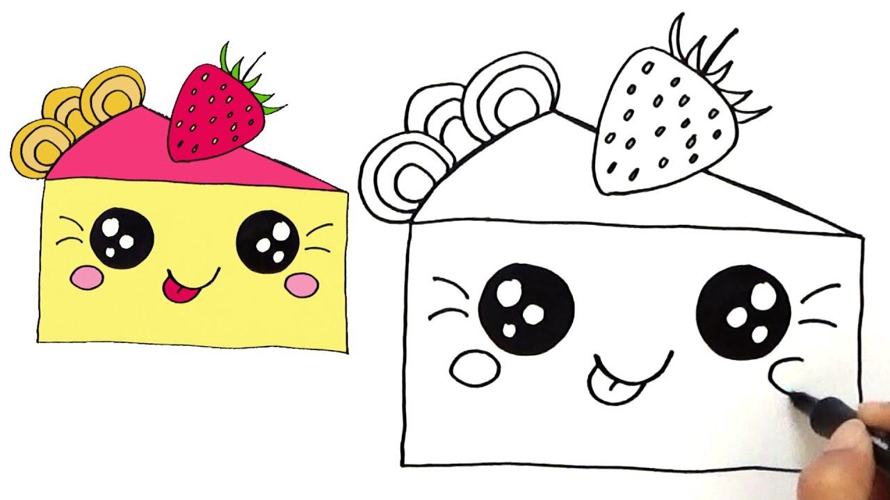 1280x720 How To Draw A Cute Kawaii Piece Of Cake