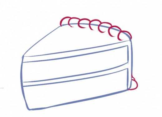 520x378 How To Draw A Kawaii (Cute) Cake Slice Wayne Thiebaud And Characters