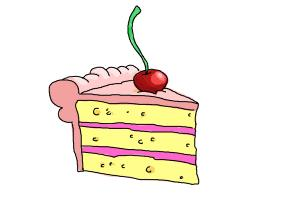 300x200 How To Draw A Slice Of Cake