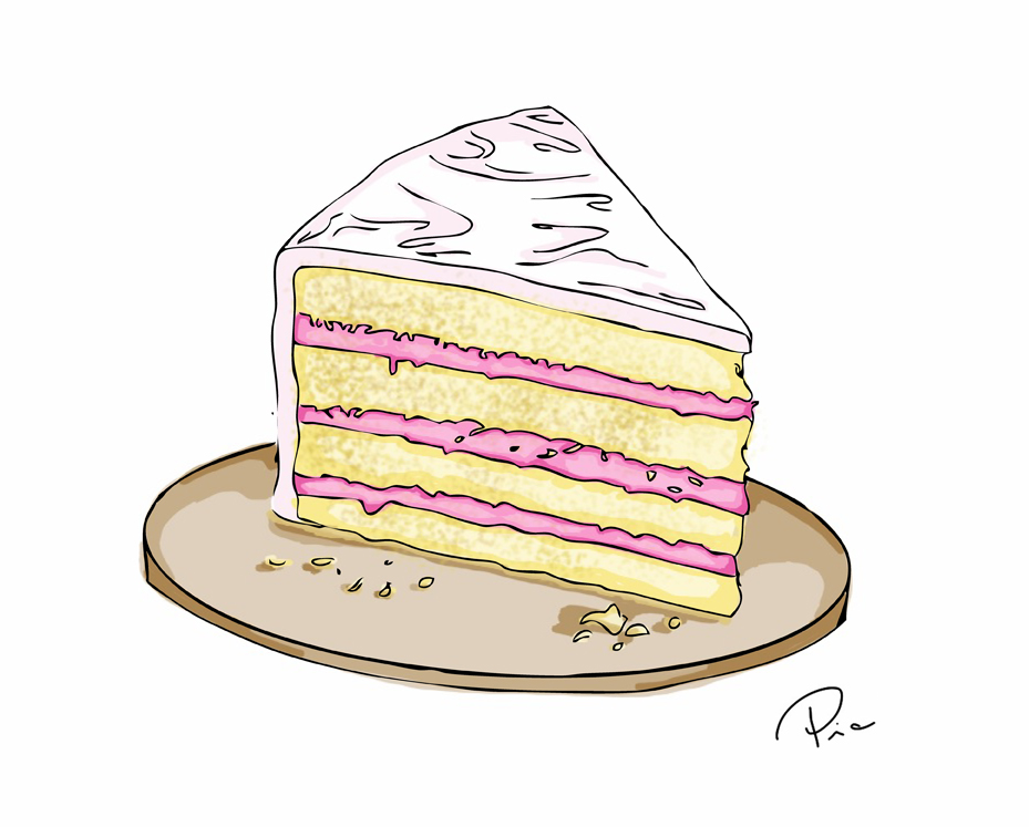 Piece Of Cake Drawing At Getdrawings Com Free For