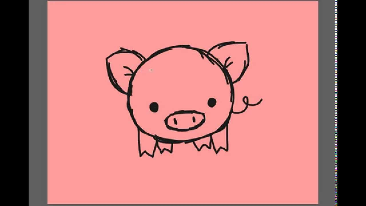 Pig Cartoon Drawing At Getdrawings Com Free For Personal Use Pig
