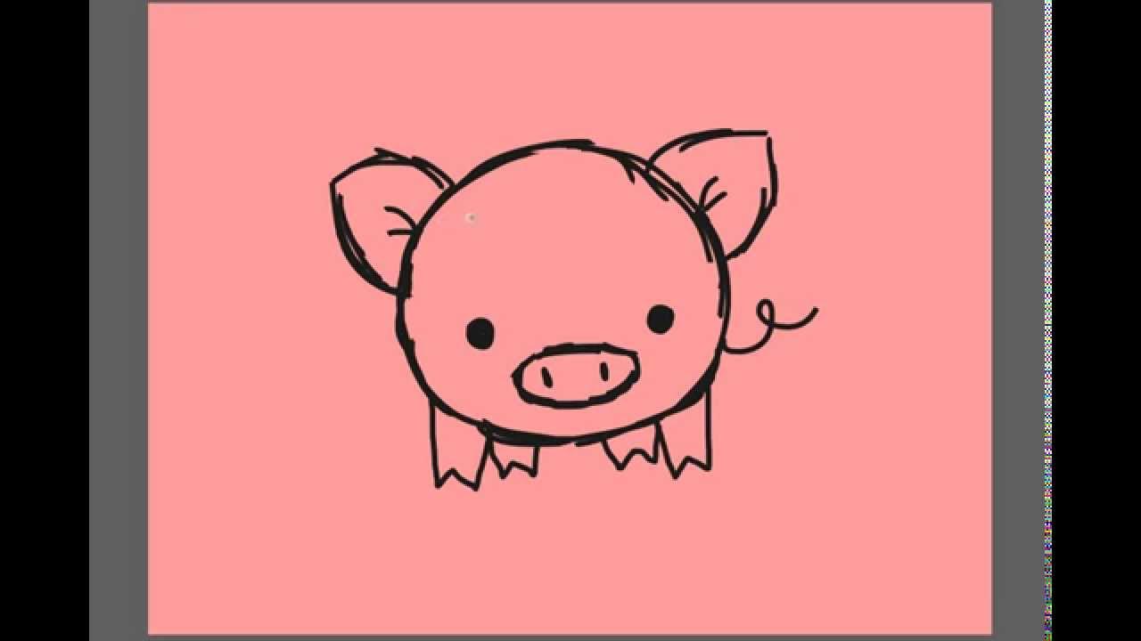 1280x720 Draw A Cartoon Pig Coloring Page Impressive Pig Cartoon Drawing