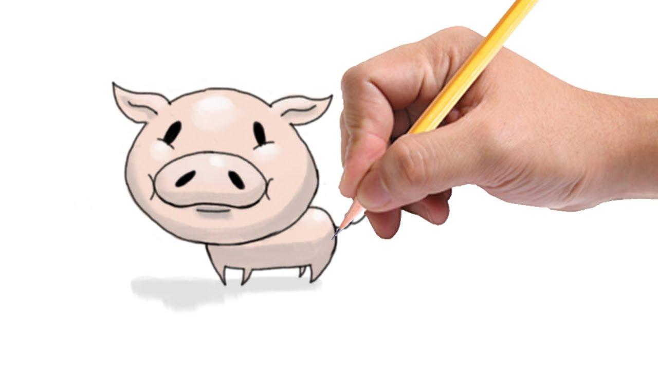 1280x720 How To Draw A Cartoon Pig