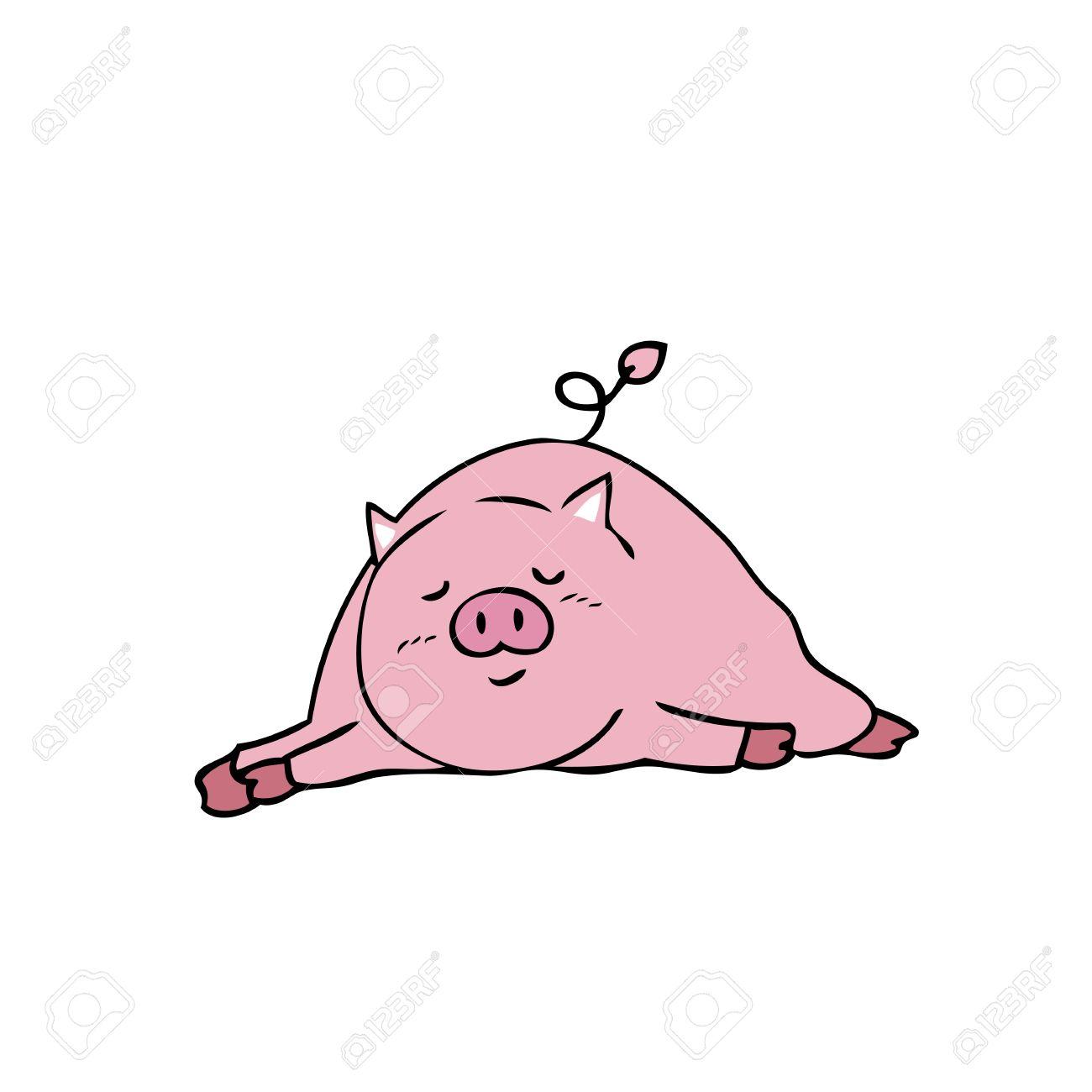 1300x1300 Pig Sleeping Drawing Cartoon Vector Royalty Free Cliparts, Vectors