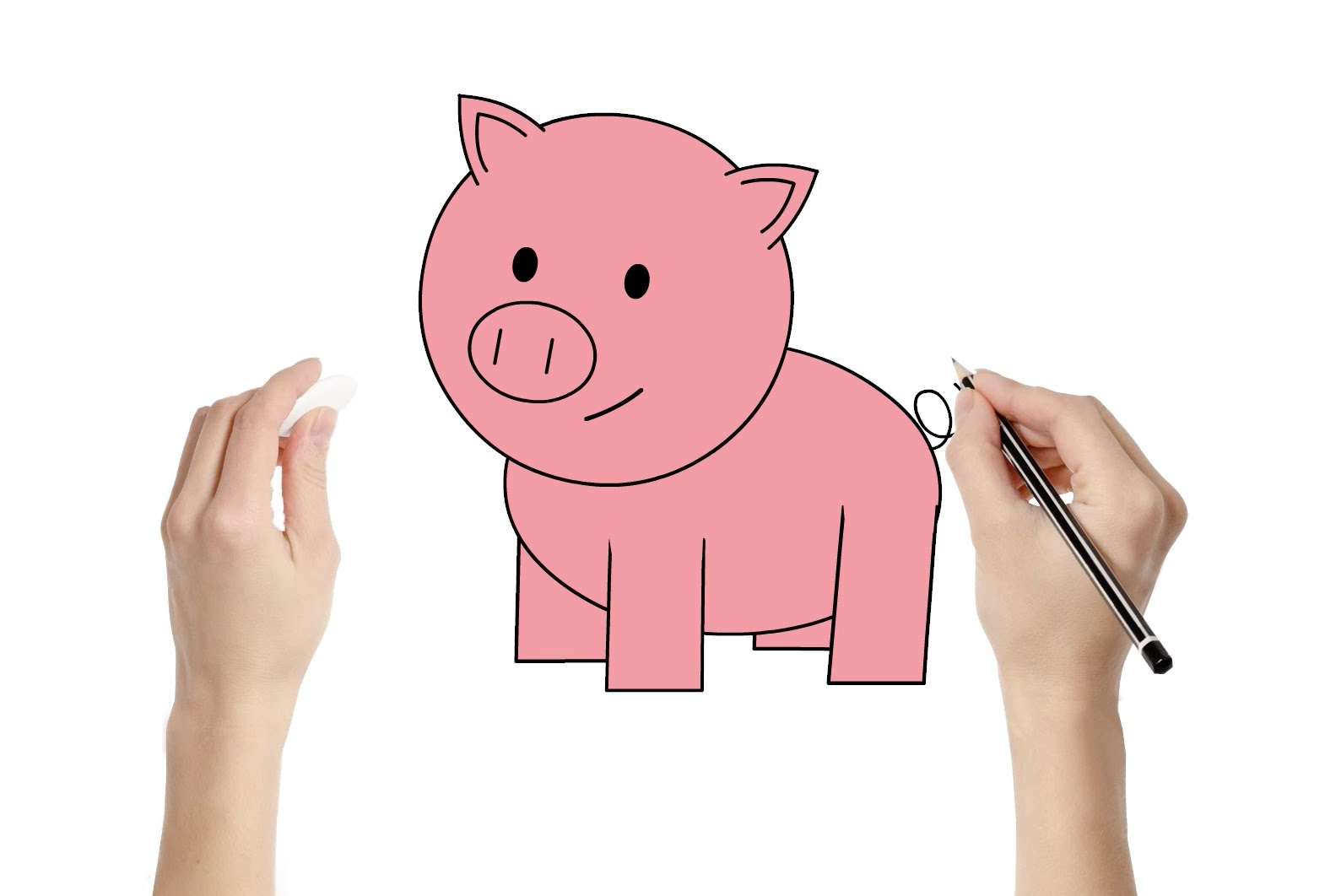1570x1062 How To Draw A Pig Fun Learning Art Activity For Kids