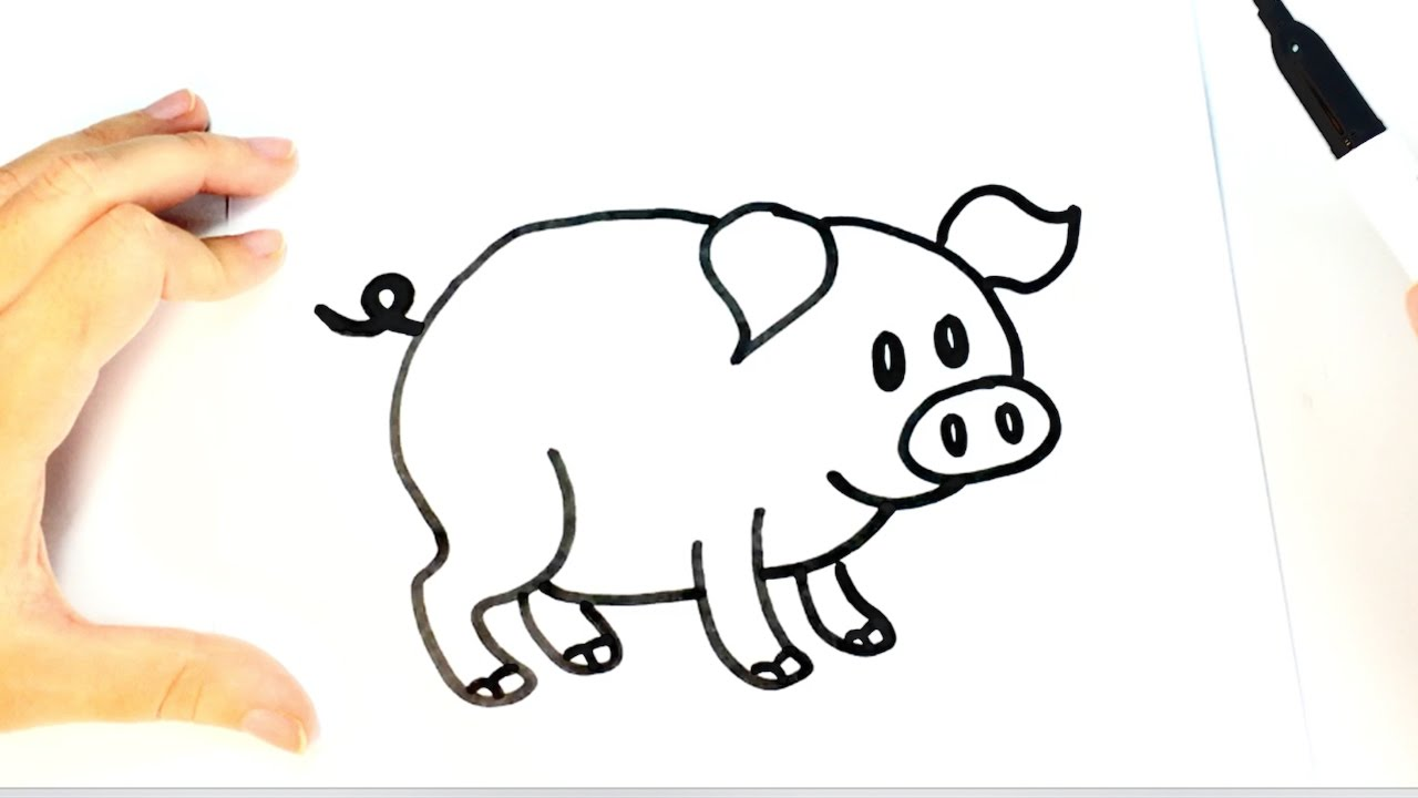 1280x720 How To Draw A Pig For Kids Pig Drawing Lesson