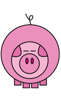 215x382 How To Draw A Pig For Kids, Toddlers, Preschool, Easy Step By Step
