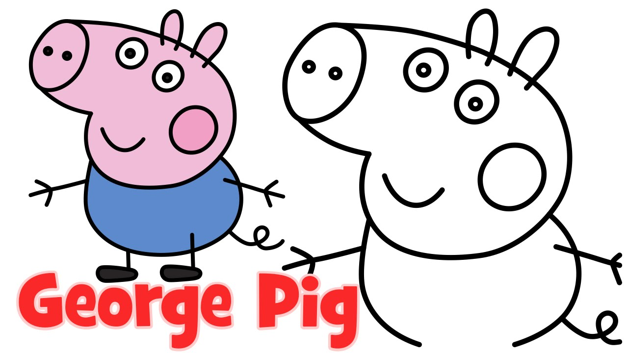 1280x720 How To Draw Peppa Pig Family George Step By Step Easy Drawing