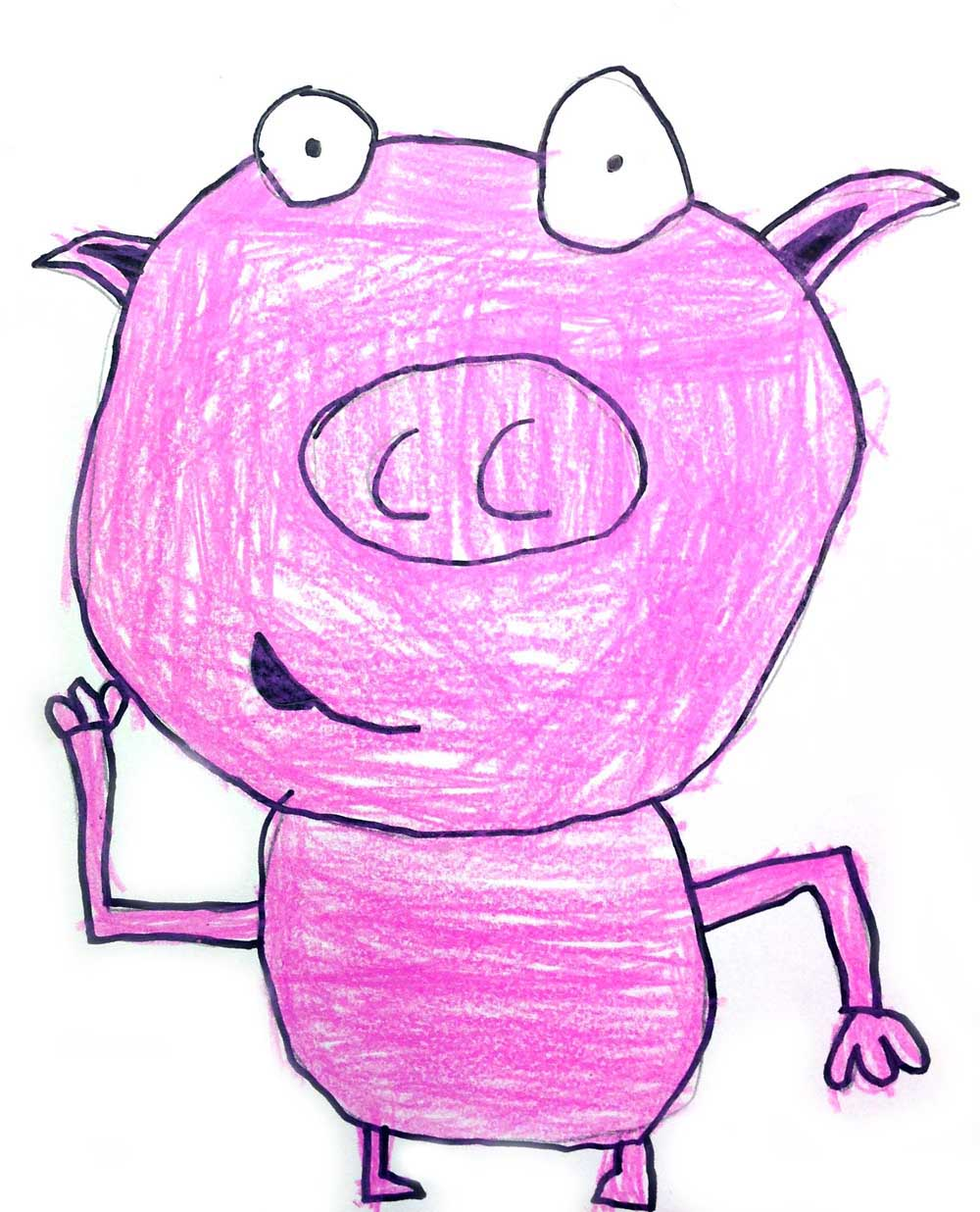 1000x1236 Kids Drawing Lesson For Cartoon Pig Ziggity Zoom