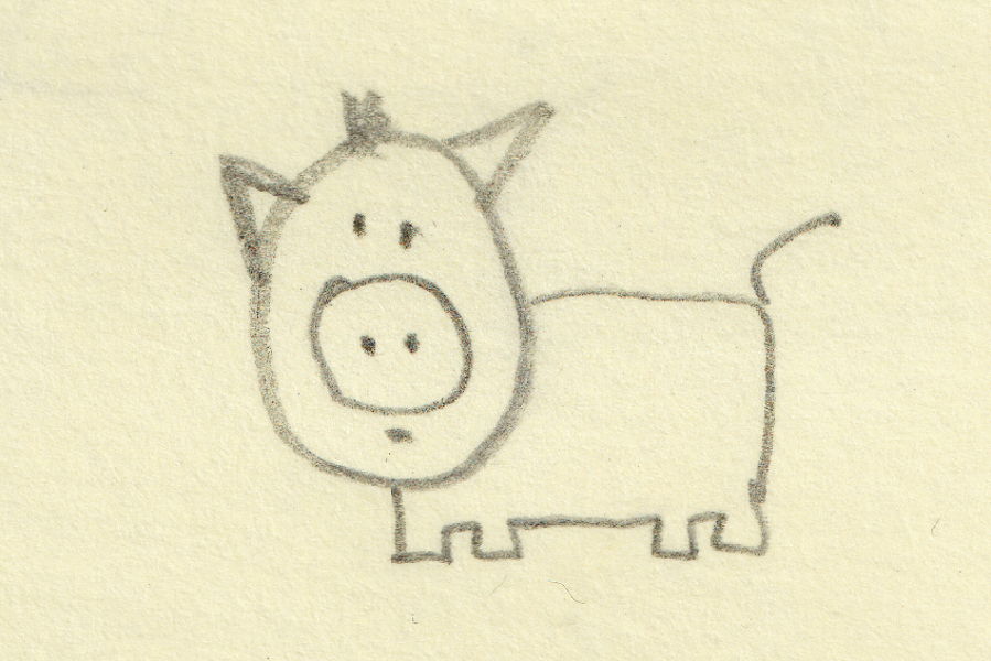 899x600 Pig Doodle. Nature. Drawings. Pictures. Drawings Ideas For Kids