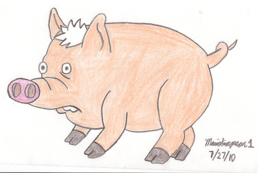 900x605 Spider Pig Drawing By Mariosimpson1