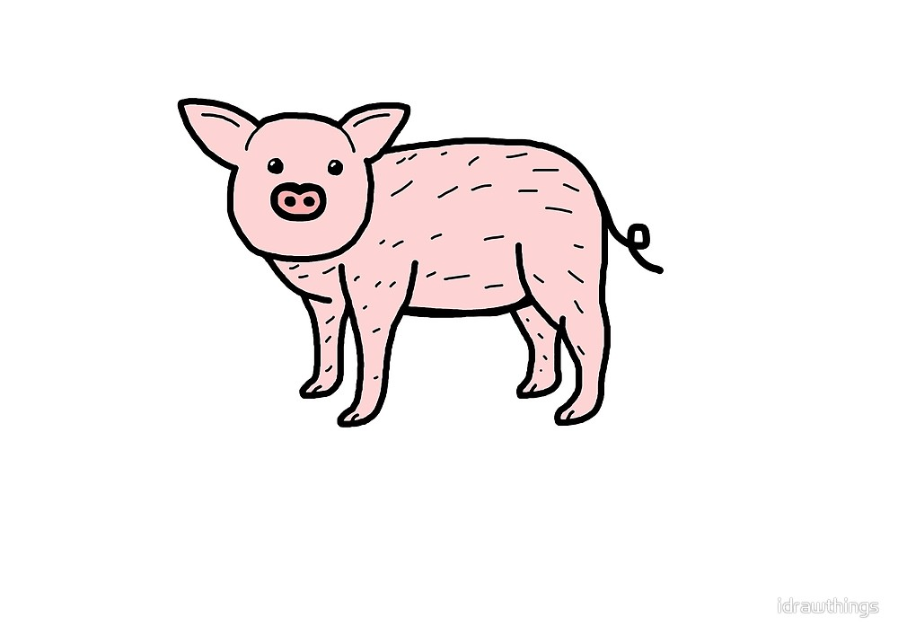 This is an image of Stupendous Drawing A Pig Icebreaker