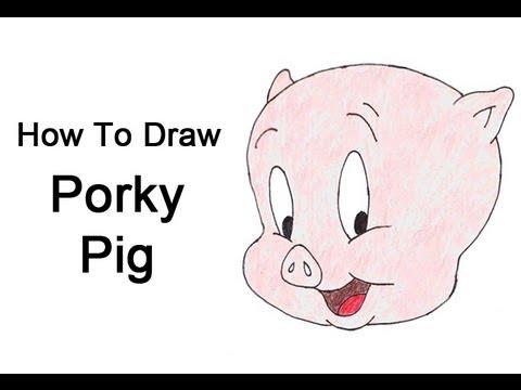 480x360 How To Draw Porky Pig