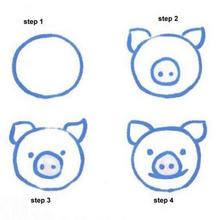 220x220 How To Draw Pink Pig