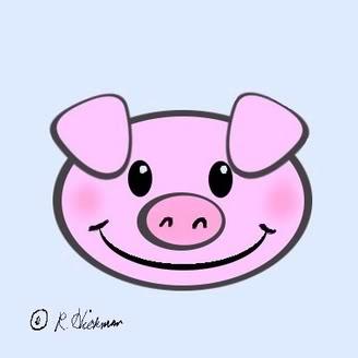 328x328 Cartoon Pig Face