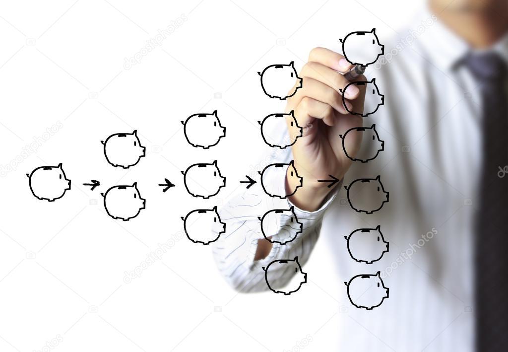 1024x709 Businessman Drawing Piggy Bank Stock Photo Violetkaipa