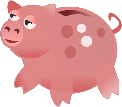 399x352 Piggy Bank Free Vector In Open Office Drawing Svg ( Svg ) Vector