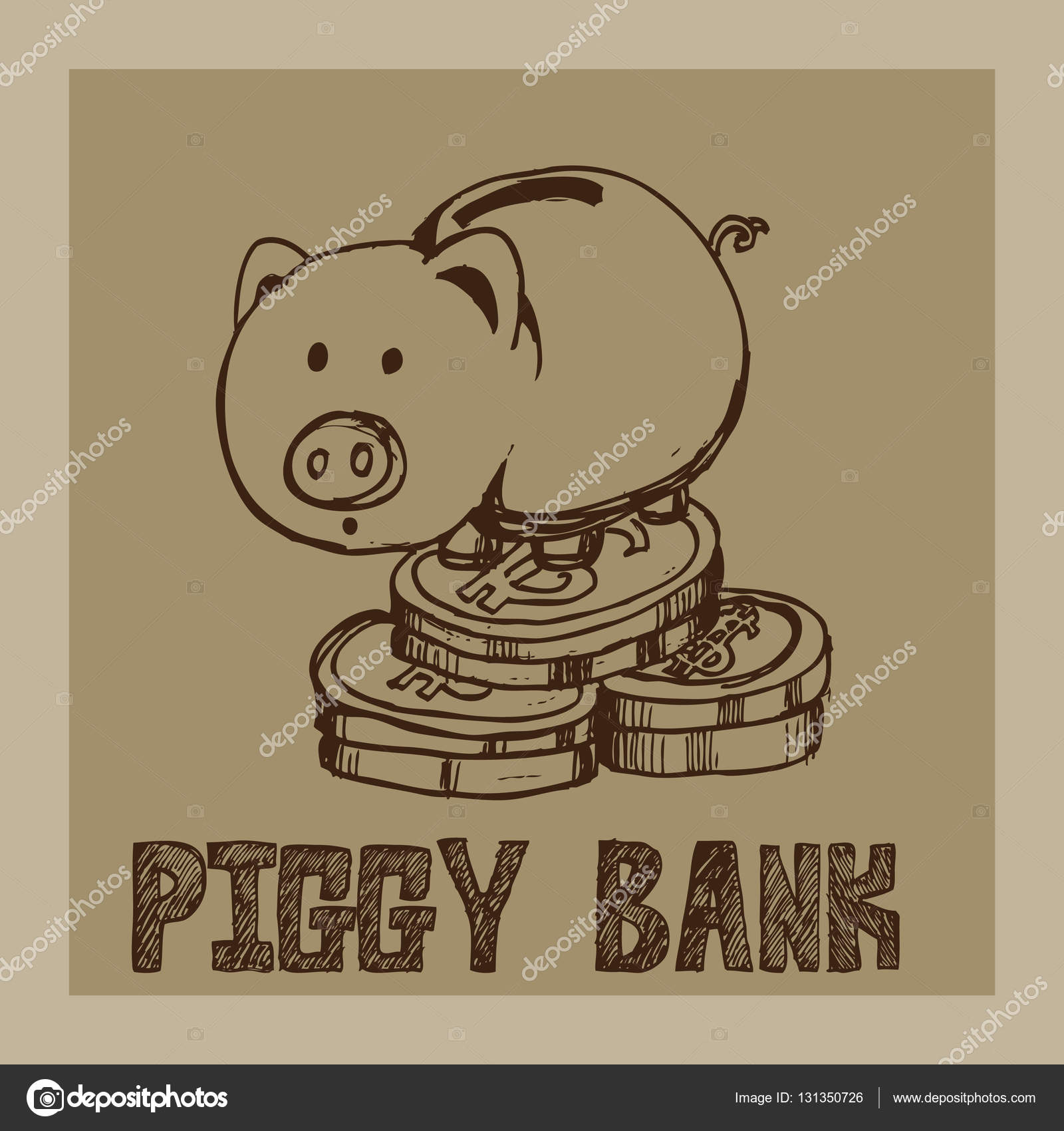 1600x1700 Piggy Bank Drawing Graphic Design Objects Stock Vector