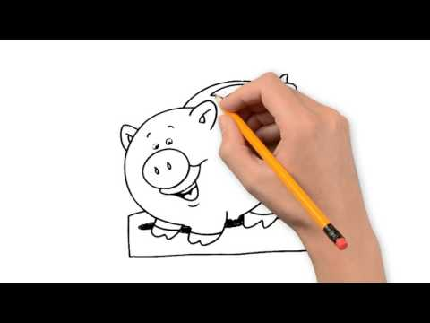 480x360 Piggy Bank Things Pencil To Draw Step By Step