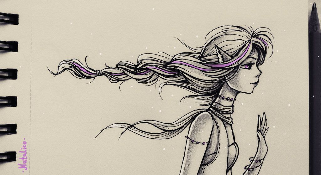 1024x559 Pigtail By Natalico Art Drawing Stuff And Drawings