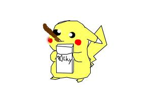 300x200 Lol How To Draw A Funny Pikachu Eating Pocky