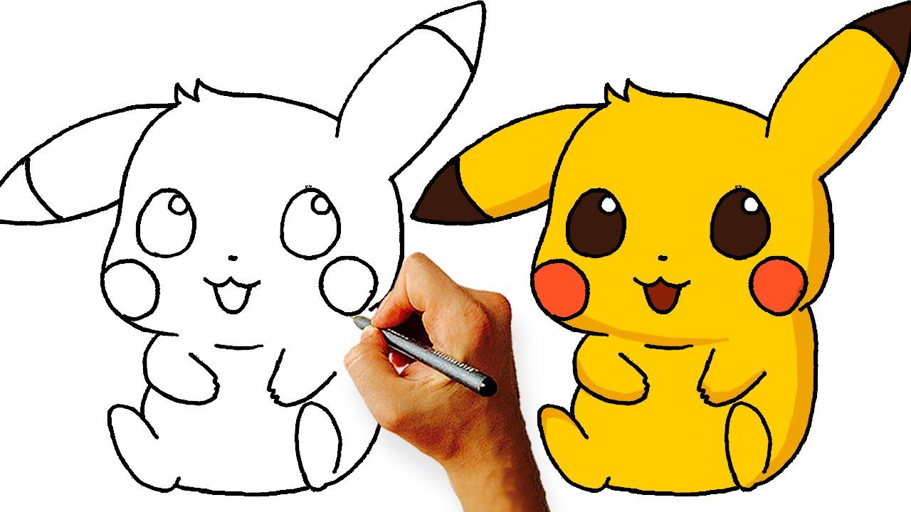 1280x720 How To Draw Chibi Pikachu (Pokemon) Step By Step