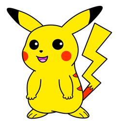 250x250 How To Draw Pikachu From Pokemon