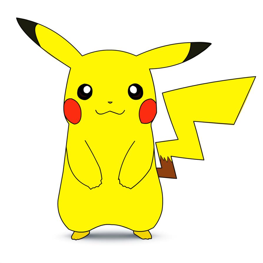 894x894 Pikachu Flash Drawing (Vector,concept Art Unit) By