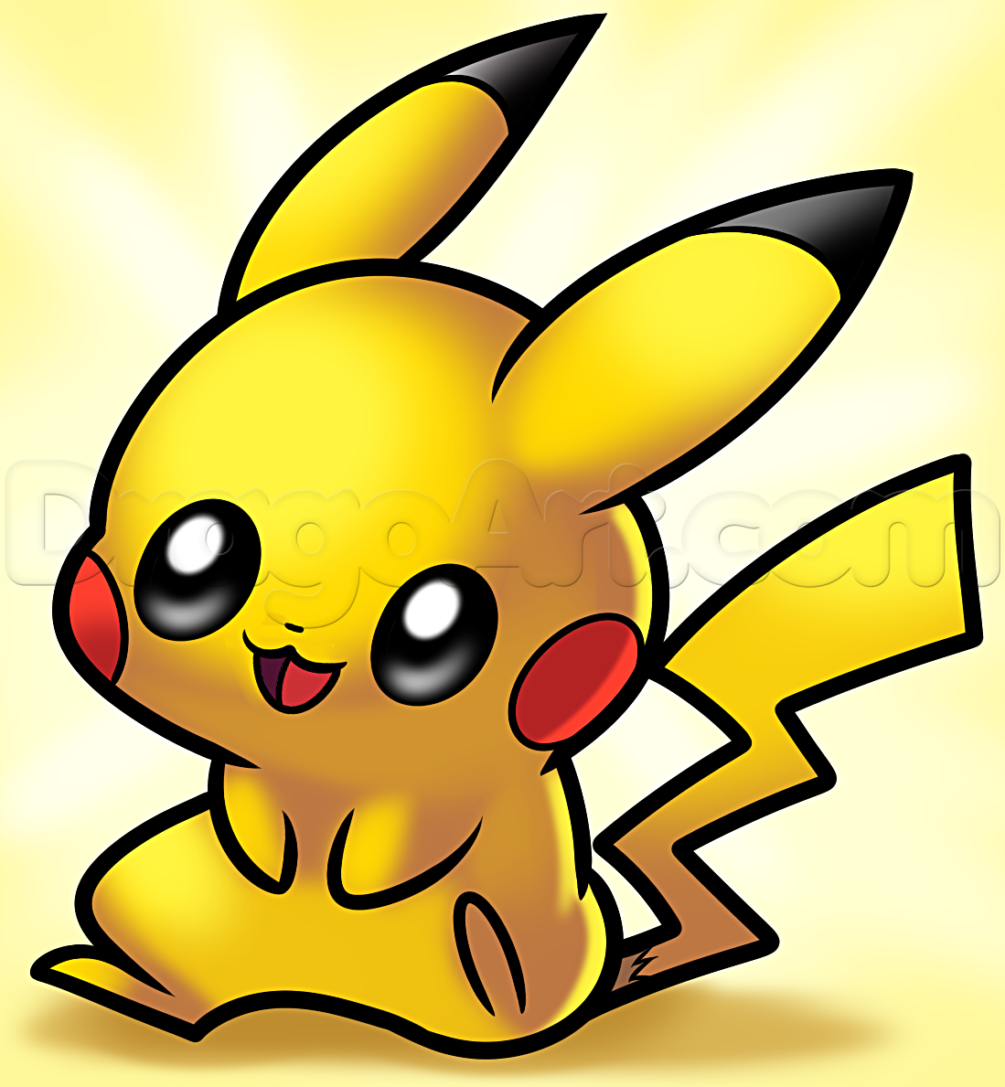 1099x1189 How To Draw Baby Pikachu, Step By Step, Pokemon Characters, Anime