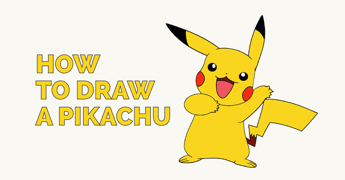 1200x628 How To Draw A Pikachu Easy Drawing Guides