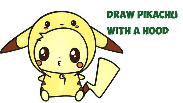 600x339 Drawings Of Pikachu Drawn Hat Drawing Pokemon Drawings Pikachu